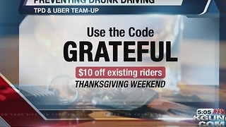 Uber offers discounts on rides to prevent drunk driving - Video