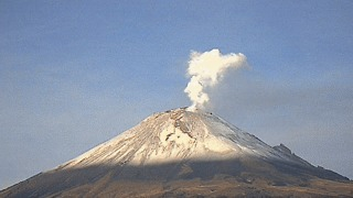 New Eruption From Mexico's Popocatepetl Volcano - Video