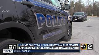 Howard County police to test body worn cameras - Video