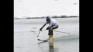 Skiing Into A Lake - Video