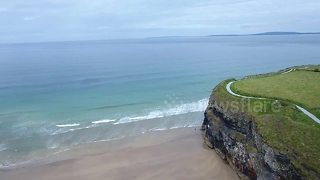 Drone films dolphins swimming off the west coast of Ireland - Video