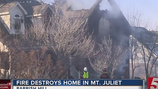 Fire Damages Home In Mt. Juliet - Video