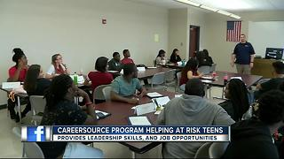 CareerSource Program helping at risk teens prepare for the future - Video