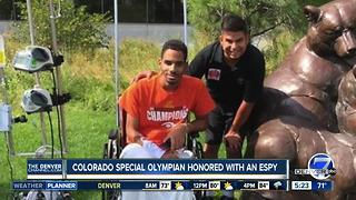 Special Olympics Colorado athlete awarded honorary ESPY for courage - Video