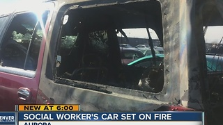 Social worker's car set on fire - Video