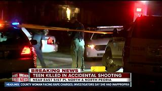 Teen killed in accidental shooting in North Tulsa - Video