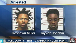 Polk County teens to appear in court on Monday - Video