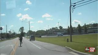 VIDEO: Sheriff's Office cruiser rolls away from Ohio traffic stop - Video