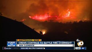 Crews continue to battle fire overnight - Video