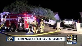 El Mirage girl honored for saving family from a house fire