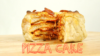 Delicious recipes! How to make pizza cake - Video