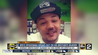 BPD Police spokesman's brother killed - Video
