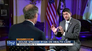 House Speaker Paul Ryan talks Healthcare with TODAY'S TMJ4's Charles Benson - Video