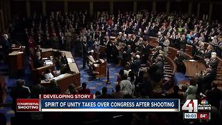 Spirit of unity takes over Congress after shooting - Video