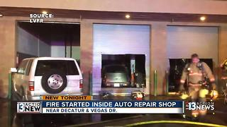 Fire at auto repair shop - Video