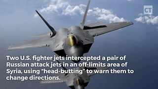 "U.S. Pilots ""Head-Butt"" Russian Jets - Video"