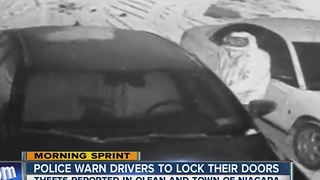 Rash of break-ins of unlocked cars - Video