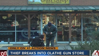 Thief breaks into Olathe gun store - Video