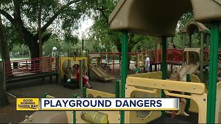 Moms and dads need to stay vigilant to keep their children safe at playgrounds - Video