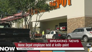 Home Depot employee held at knife-point - Video