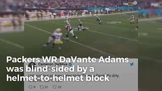 Thomas Davis Targets Davante Adams' Head In Vicious Block - Video