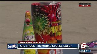 Are those fireworks stores safe? - Video