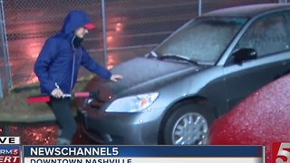 Freezing Rain, Wintry Mix Cause Icy Conditions - Video