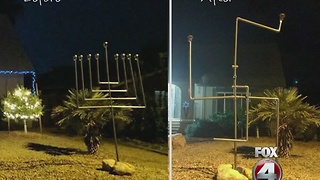 Menorah to swastika - Video