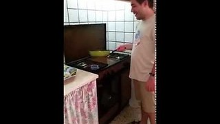 Tortilla Flip Goes Horribly Wrong - Video