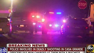 Three officers on admin leave after shooting, killing man in Casa Grande - Video
