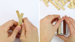 How to make clothespins plant holders - Video