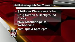 Aldi holding job fair Thursday in Mid-Michigan - Video