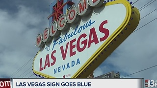 Welcome sign turns blue for local police - Video