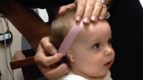 Baby's Precious Reaction To Sound After Trying Hearing Aid For The First Time