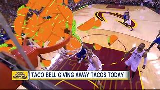 Taco Bell is giving away free tacos on Tuesday