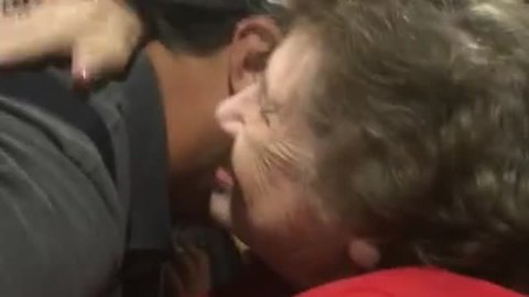 Famous Singer Notices Neighbor In Audience, Hugs Her
