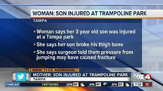 Florida boy, 3, in body cast after injury occurs on trampoline - Video