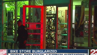 Southwest Bakersfield bike store burglarized - Video