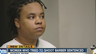 Woman who tried to shoot barber sentenced - Video
