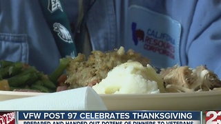 VFW Post 97 hosts a special Thanksgiving dinner - Video