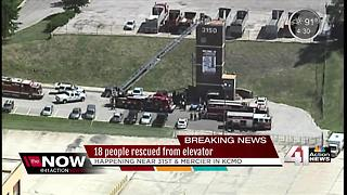 Multiple people rescued from elevator shaft - Video