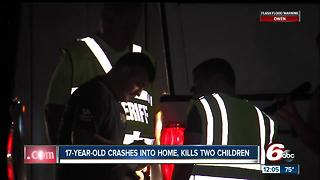UPDATE: 17-year-old driver crashes into home killing two children - Video