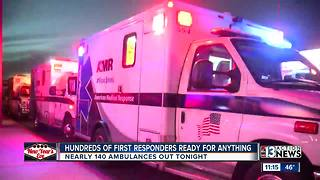 Hundreds of first responders ready for NYE