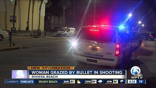Woman grazed by bullet in Riviera Beach - Video