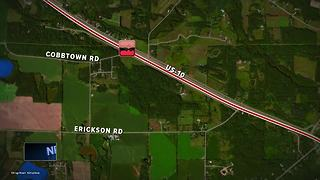 Man killed after truck crosses median, hits semi
