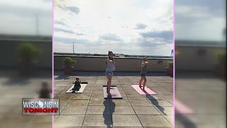 Rooftop Yoga taking place in Oshkosh - Video