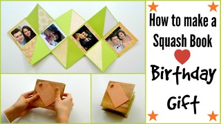 How to make a squash book gift card