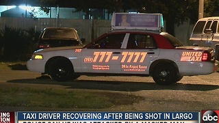 Taxi driver recovering after being shot in Largo - Video