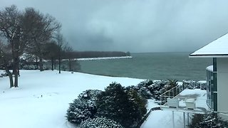 Timelapse Shows Storm Clouds Rolling Across Lake Erie - Video