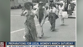 Preparations for local women's march on Saturday - Video